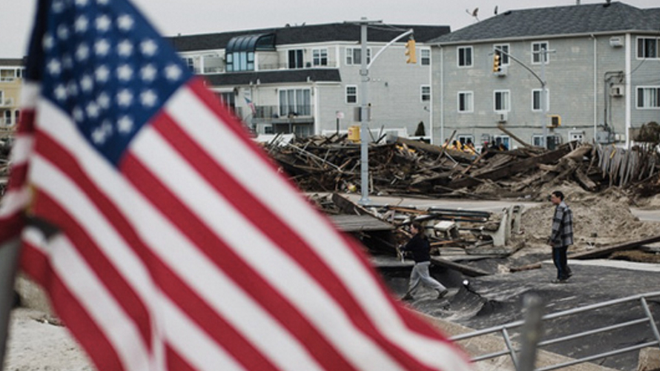 Rockaway Renegades Repair after Hurricane Sandy at the Whitehouse Post in New York