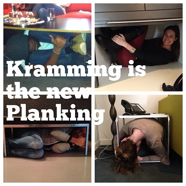 Kramming is the new Planking at the Whitehouse Post in Los Angeles